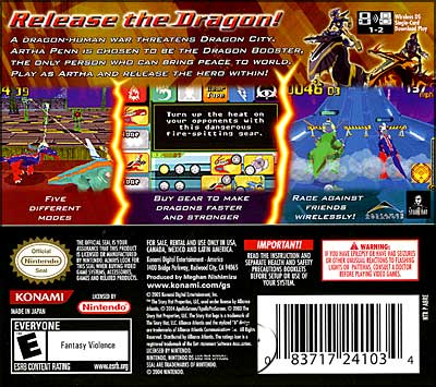 Dragon Booster Game: Back Cover